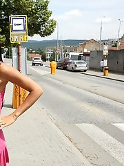 Ashley Bulgari Walks Around Town Naked - 7/13/2012